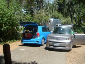 Parking close to yurt at  Tugman