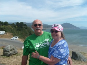 The two of us at Gold Beach