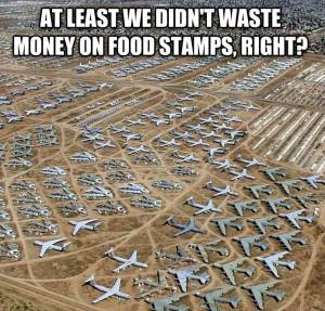 Food Stamps obsolete military equipment