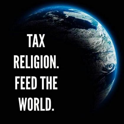 tax religion feed the world
