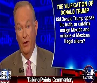 Trump Immigration OReilly