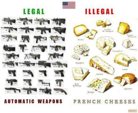 American guns legal but french cheese illegal