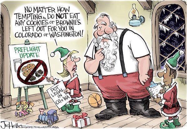 santa pot brownies and cookies
