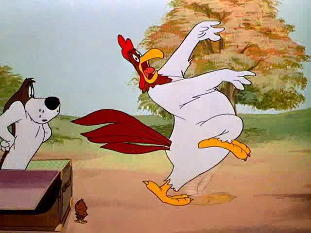 Image result for foghorn leghorn afraid