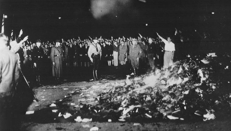nazi book burn