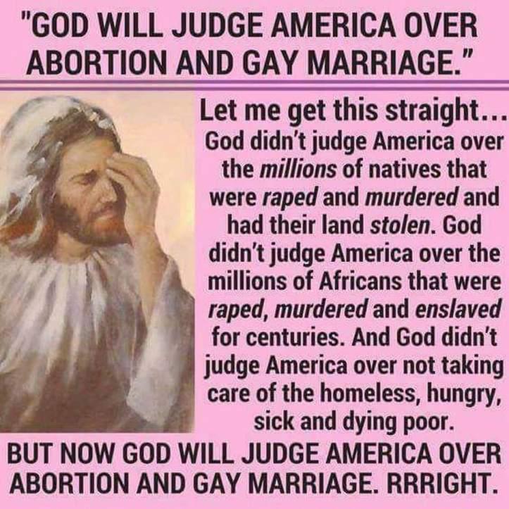 God will judge America