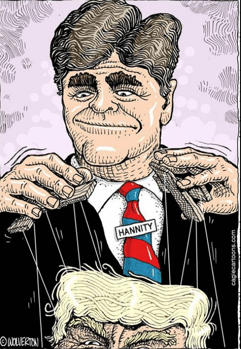 Hannity puppeteering trump