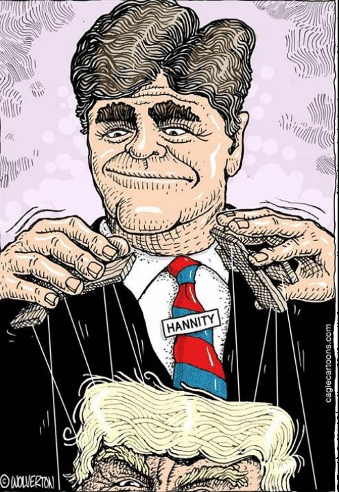 Hannity puppeteering trump