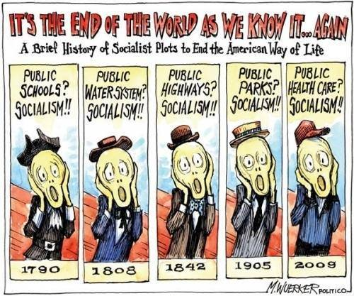 Terrified of socialism